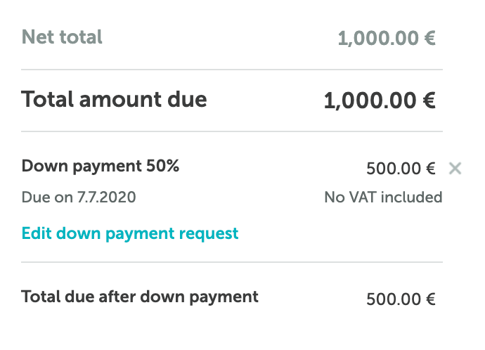 Zervant_down_payment_on_invoice.png