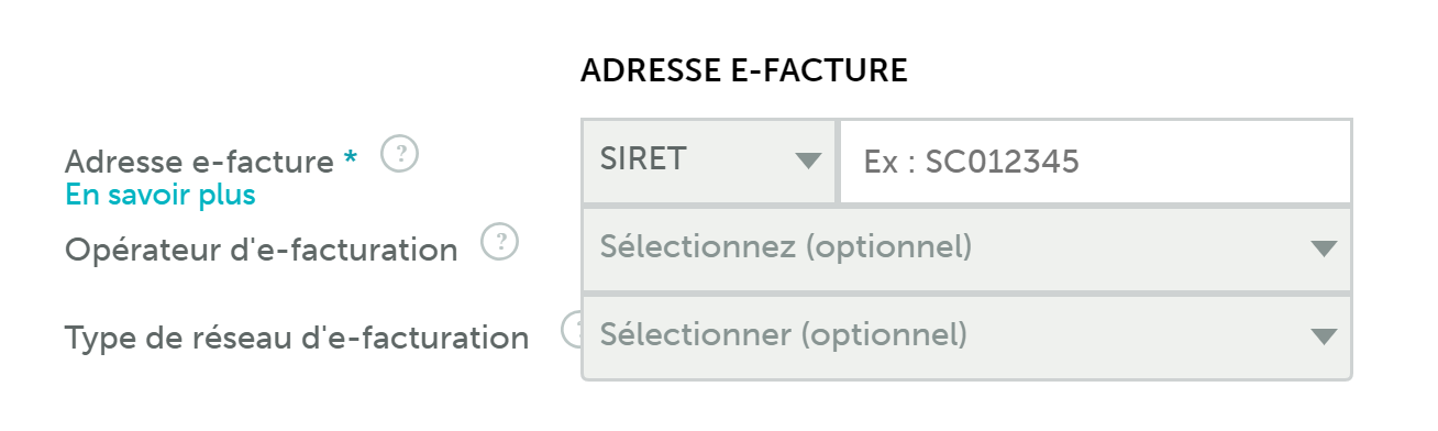 adresse e-facturation